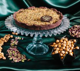 Torta ciocco nocciole e pistacchi
