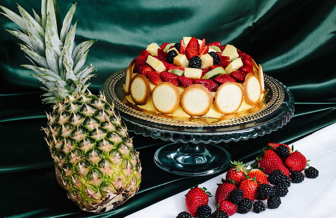 Torta deliziosa di frutta